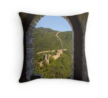 Mutianyu to Jiankou Great Wall - HDR Throw Pillow