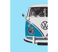Blue VW Camper Photographic Print