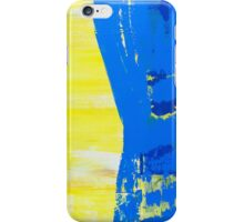 Abstract Blue and Yellow iPhone Case/Skin