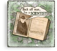 Popular Science: Charles Darwin (distressed) Canvas Print