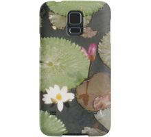 Lotus Leafs Petals and Flowers in Pond Samsung Galaxy Case/Skin