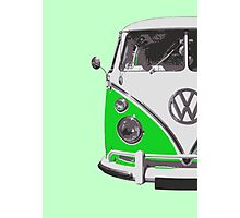 Green VW Camper Photographic Print