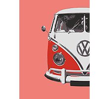 Red VW Camper Photographic Print