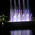Water and lights play on the Lake by sstarlightss