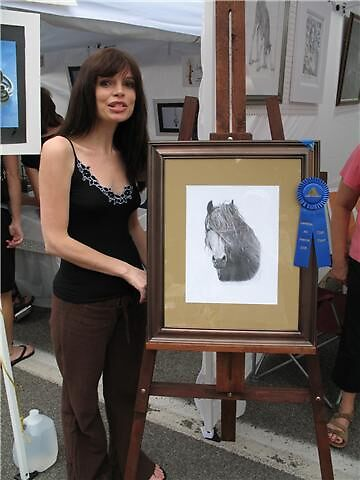 First Place at the Lewiston Art Festival!!! by Nori Bucci