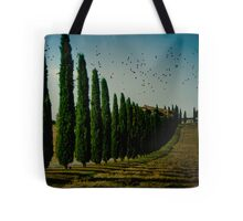 Cypress and Birds Tote Bag