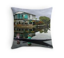 INLE LAKE - BURMA Throw Pillow