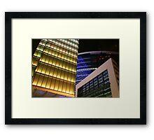 Skylines by Lights Framed Print