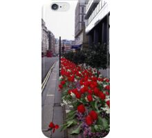 Red Tulip City Perspective iPhone Case/Skin