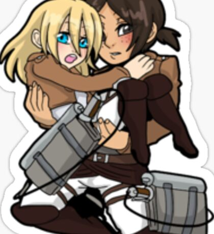 AoT Christa + Ymir sticker Sticker