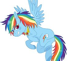 MLP Rainbow Dash sticker by SoloAzume