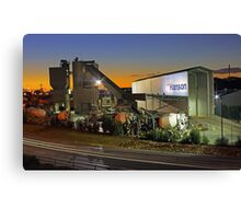 Hanson Concrete Plant - East Perth  Canvas Print