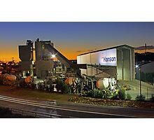 Hanson Concrete Plant - East Perth  Photographic Print