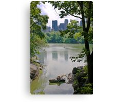 Central Park's Lovers Canvas Print