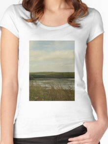 Loch of Stenness Women's Fitted Scoop T-Shirt