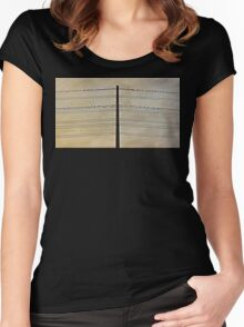 Birds on Wire Women's Fitted Scoop T-Shirt