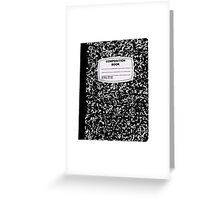 Black Composition Notebook Greeting Card