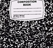 Black Composition Notebook by xoMarieHortonxo