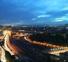 Barcelona at dusk  by tintinvb