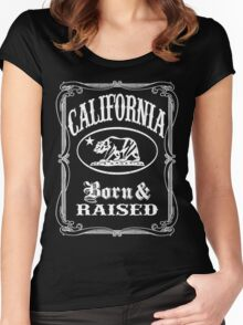 California Born and Raised Women's Fitted Scoop T-Shirt