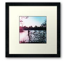 from light to the dark Framed Print