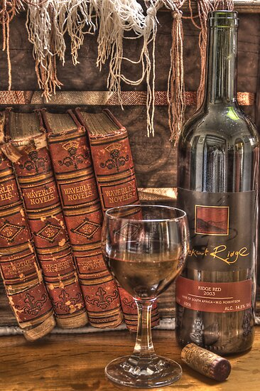 A Good Book and Wine by SandraRos