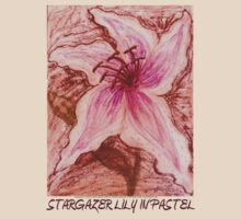 Stargazer Lily in Pastel shirt by Dawna Morton