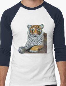 Hilary  Robinsons tigers paw  Men's Baseball ¾ T-Shirt