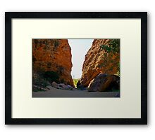Simpsons Gap, Northern Territory Australia Framed Print