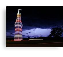 Colored Lightning Canvas Print