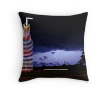 Colored Lightning Throw Pillow