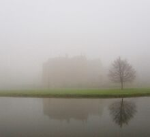 Broughton Castle In Mist, Oxfordshire by Stunningstills