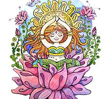 Yoga flowe girl by Pranatheory