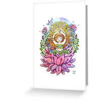 Yoga flowe girl Greeting Card