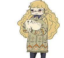 Blonde with Matching Cat by kiwinectarco
