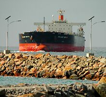 Coal Ship BRILLIANT CENTURY - NEWCASTLE HARBOUR NSW by Phil Woodman