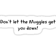 Don't let the Muggles get you down! Sticker