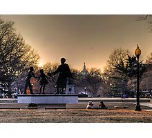 Sunset on Capitol Hill Photographic Print