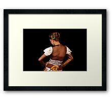 Stylish Pose - Please Enlarge Framed Print