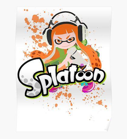 Splatoon - Inkling Girl Poster