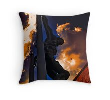 Jesus in silhouette  Throw Pillow