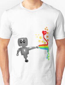 Rainbow Robot  T-Shirt