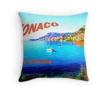 Monaco and the Riviera. Throw Pillow