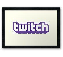 Twitch Framed Print