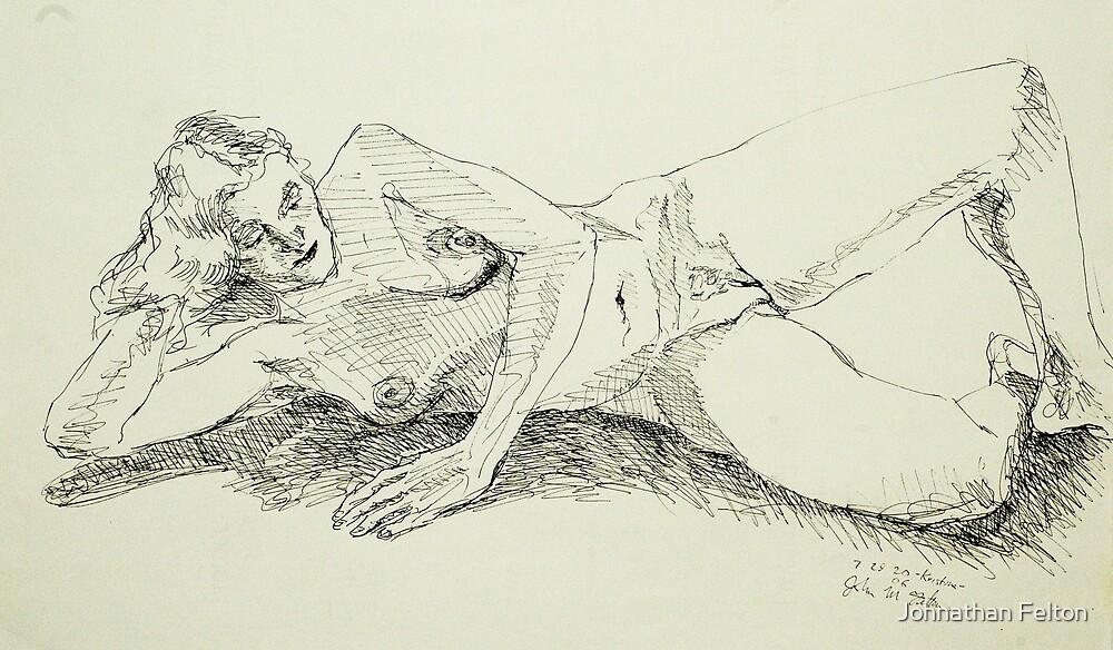 Kristina reclining 2 by Johnathan Felton