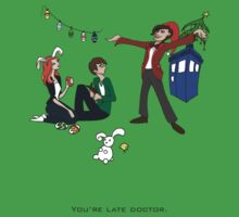 The Doctor is Late Kids Clothes
