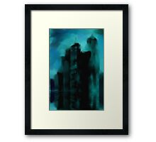 Storm City Framed Print