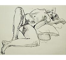 Kristina reclining Photographic Print