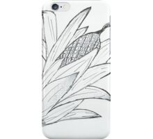 Black & white corn iPhone Case/Skin