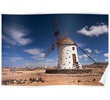 Windmill in Fuerteventura Poster